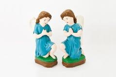 夫妇天使祈祷 免版税库存图片