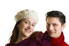 夫妇嬉戏的年轻人 图库摄影