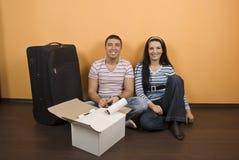夫妇安置新 免版税图库摄影