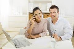 夫妇家庭工作 免版税库存图片