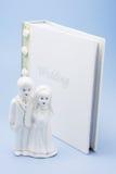夫妇小雕象婚礼 免版税库存图片