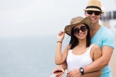 夫妇巡航假日 库存图片