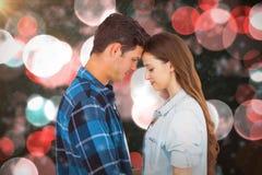 夫妇常设头的综合图象反对头的 免版税图库摄影