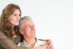 夫妇年长好 库存照片