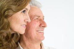 夫妇年长好 免版税图库摄影