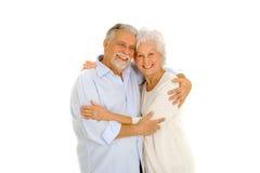 夫妇年长愉快的纵向 图库摄影
