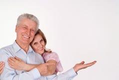 夫妇年长愉快 库存照片
