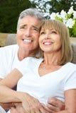 夫妇年长的人爱 库存图片