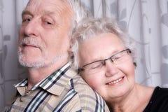 夫妇年长的人爱 免版税图库摄影