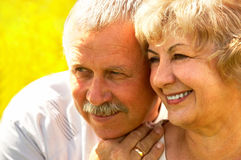 夫妇年长的人 免版税库存照片