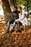 夫妇庭院卢森堡年轻人 图库摄影