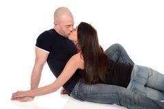 夫妇异性恋的人爱 库存图片