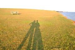夫妇影子 库存照片