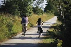 夫妇循环循环节省路径 免版税图库摄影