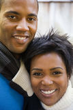 夫妇微笑 免版税库存照片