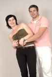 夫妇快乐的年轻人 免版税库存图片