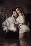 夫妇性感的年轻人 免版税图库摄影