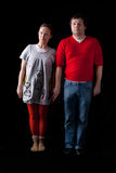 夫妇怪异的年轻人 免版税库存图片