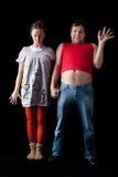 夫妇怪异的年轻人 免版税库存照片