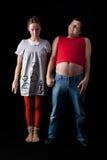 夫妇怪异的年轻人 库存图片
