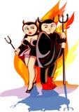 夫妇恶魔 免版税库存图片