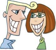 夫妇愉快微笑 免版税库存照片