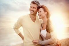 夫妇愉快微笑 免版税库存图片