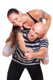 夫妇愉快的人纵向年轻人 免版税图库摄影