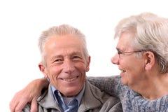 夫妇愉快的前辈 库存图片