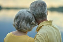 夫妇愉快的前辈 免版税库存照片