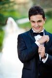 夫妇愉快的婚礼 免版税图库摄影