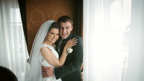 夫妇愉快的婚礼 影视素材