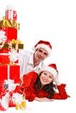 夫妇愉快的年轻人 免版税库存图片