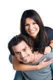 夫妇愉快的微笑的少年 库存图片