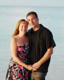 夫妇愉快的海运 库存图片