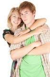 夫妇愉快的爱的年轻人 免版税库存照片