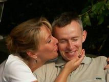 夫妇愉快的爱 库存照片