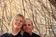 夫妇愉快的爱 免版税库存照片