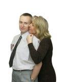 夫妇愉快的爱 免版税图库摄影