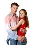 夫妇愉快的纵向 免版税库存照片