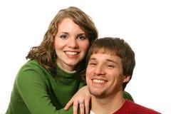 夫妇愉快的纵向 免版税库存图片