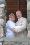 夫妇愉快的结婚的纵向 免版税库存图片