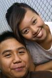 夫妇愉快的马来语 免版税库存照片