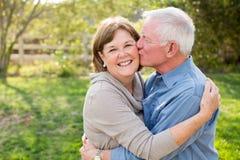 夫妇成熟前辈 免版税库存图片