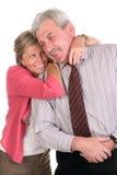 夫妇成熟微笑 免版税库存图片