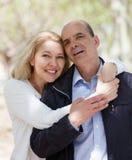 夫妇成熟纵向 免版税图库摄影