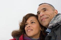 夫妇成熟纵向 免版税库存照片