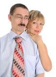 夫妇成熟 免版税库存图片