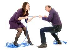 夫妇战斗 免版税库存图片