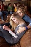 夫妇担心的年轻人 库存图片